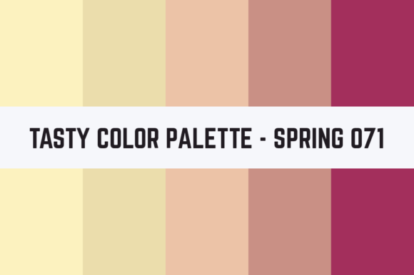 Print on Demand: Solids Tasty Color Palette - Spring 071 Graphic Textures By TastyColorPalettes