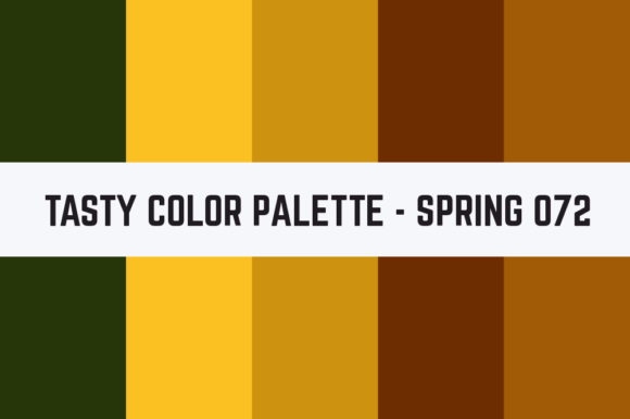 Print on Demand: Solids Tasty Color Palette - Spring 072 Graphic Textures By TastyColorPalettes