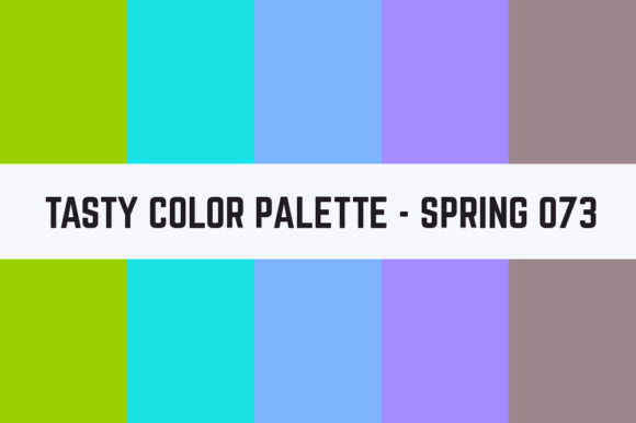 Print on Demand: Solids Tasty Color Palette - Spring 073 Graphic Textures By TastyColorPalettes
