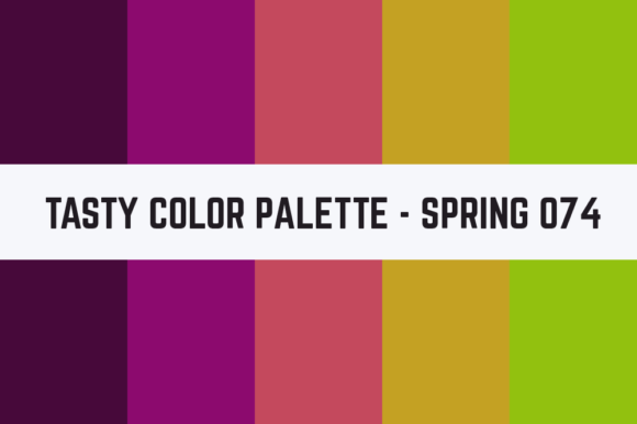 Print on Demand: Solids Tasty Color Palette - Spring 074 Graphic Textures By TastyColorPalettes