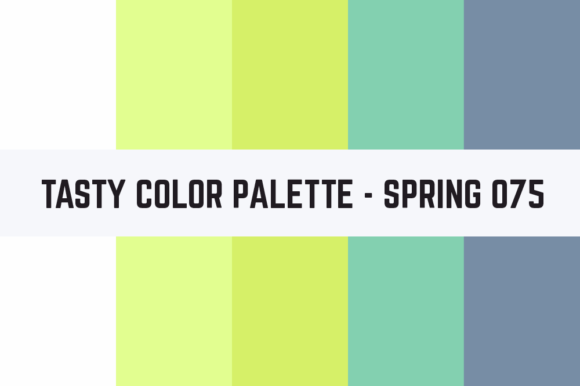 Print on Demand: Solids Tasty Color Palette - Spring 075 Graphic Textures By TastyColorPalettes