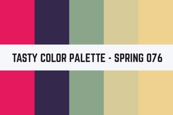 Print on Demand: Solids Tasty Color Palette - Spring 076 Graphic Textures By TastyColorPalettes