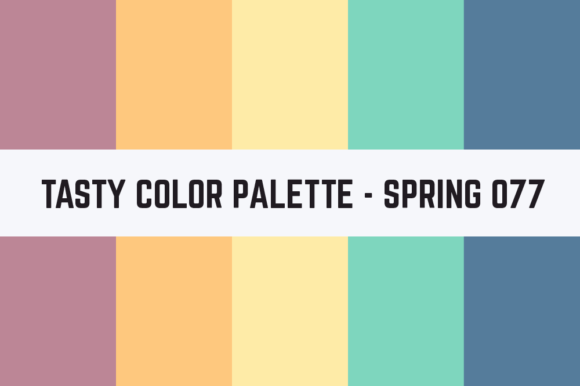 Print on Demand: Solids Tasty Color Palette - Spring 077 Graphic Textures By TastyColorPalettes