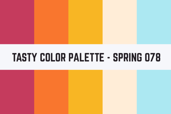 Print on Demand: Solids Tasty Color Palette - Spring 078 Graphic Textures By TastyColorPalettes