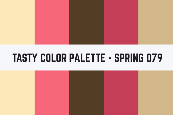 Print on Demand: Solids Tasty Color Palette - Spring 079 Graphic Textures By TastyColorPalettes