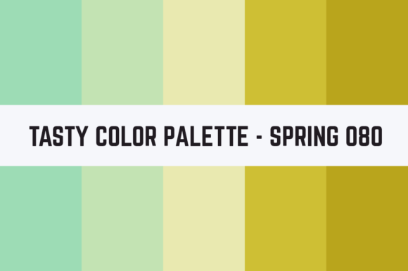 Print on Demand: Solids Tasty Color Palette - Spring 080 Graphic Textures By TastyColorPalettes