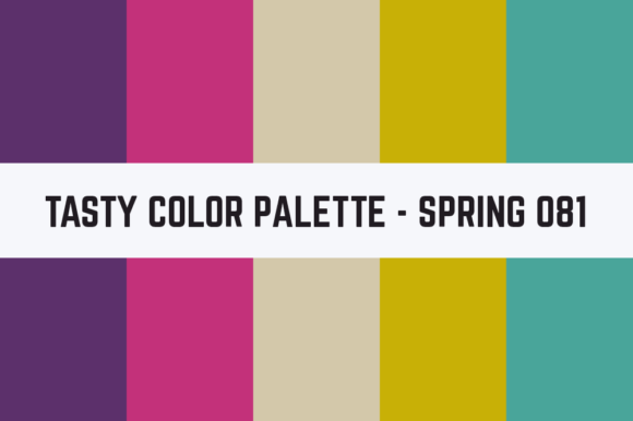 Print on Demand: Solids Tasty Color Palette - Spring 081 Graphic Textures By TastyColorPalettes