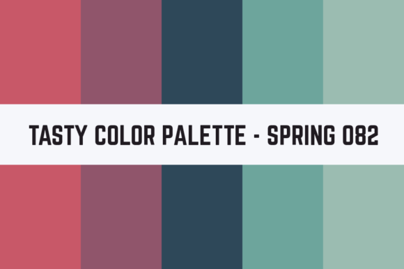 Print on Demand: Solids Tasty Color Palette - Spring 082 Graphic Textures By TastyColorPalettes