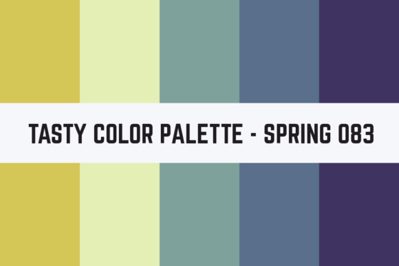 Print on Demand: Solids Tasty Color Palette - Spring 083 Graphic Textures By TastyColorPalettes