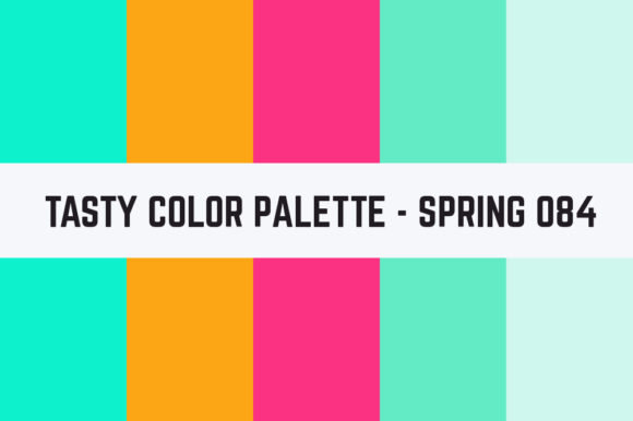 Print on Demand: Solids Tasty Color Palette - Spring 084 Graphic Textures By TastyColorPalettes