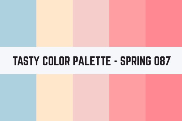 Print on Demand: Solids Tasty Color Palette - Spring 087 Graphic Textures By TastyColorPalettes