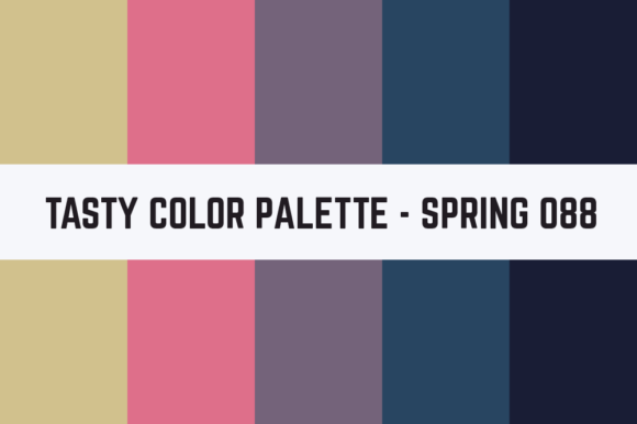 Print on Demand: Solids Tasty Color Palette - Spring 088 Graphic Textures By TastyColorPalettes