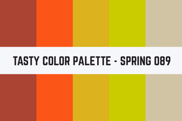 Print on Demand: Solids Tasty Color Palette - Spring 089 Graphic Textures By TastyColorPalettes