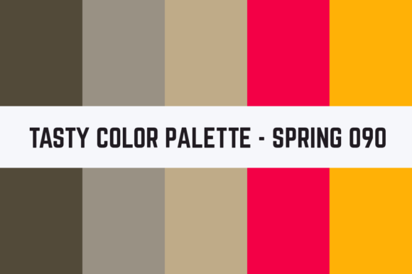 Print on Demand: Solids Tasty Color Palette - Spring 090 Graphic Textures By RefreshUp