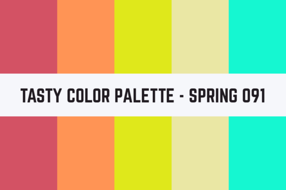 Print on Demand: Solids Tasty Color Palette - Spring 091 Graphic Textures By TastyColorPalettes