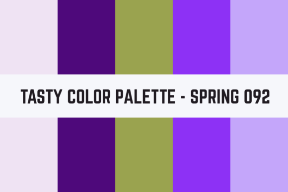 Print on Demand: Solids Tasty Color Palette - Spring 092 Graphic Textures By TastyColorPalettes