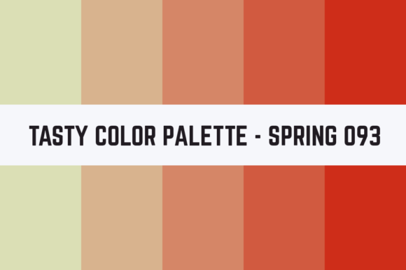 Print on Demand: Solids Tasty Color Palette - Spring 093 Graphic Textures By TastyColorPalettes
