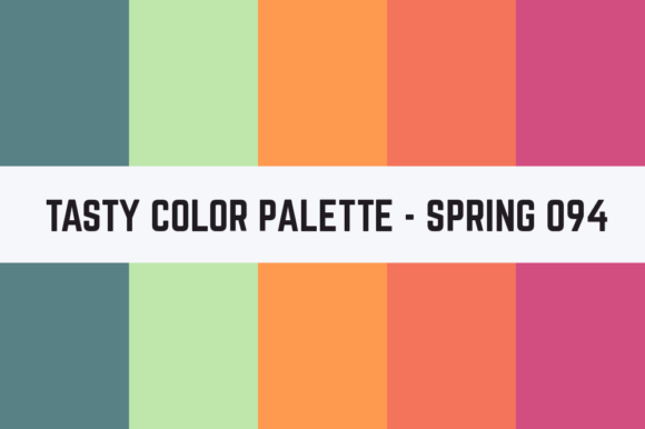 Print on Demand: Solids Tasty Color Palette - Spring 094 Graphic Textures By TastyColorPalettes