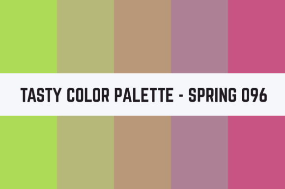 Print on Demand: Solids Tasty Color Palette - Spring 096 Graphic Textures By TastyColorPalettes