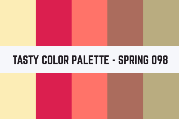 Print on Demand: Solids Tasty Color Palette - Spring 098 Graphic Textures By TastyColorPalettes