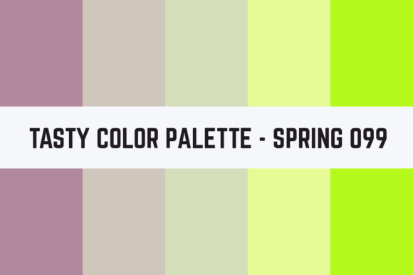 Print on Demand: Solids Tasty Color Palette - Spring 099 Graphic Textures By TastyColorPalettes