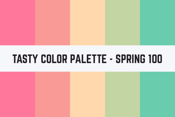 Print on Demand: Solids Tasty Color Palette - Spring 100 Graphic Textures By TastyColorPalettes