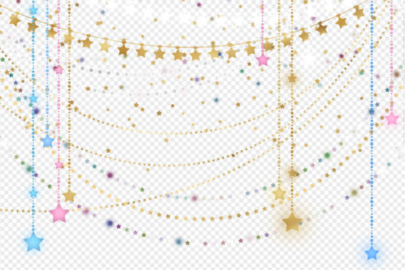 Download Free Star String Lights Clipart Graphic By Digital Curio Creative for Cricut Explore, Silhouette and other cutting machines.