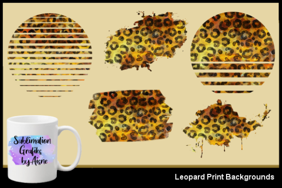 Print on Demand: Sublimation Leopard Backgrounds Graphic Backgrounds By Aisne - Image 1