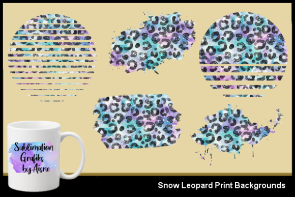 Print on Demand: Sublimation Snow Leopard Backgrounds Graphic Backgrounds By Aisne