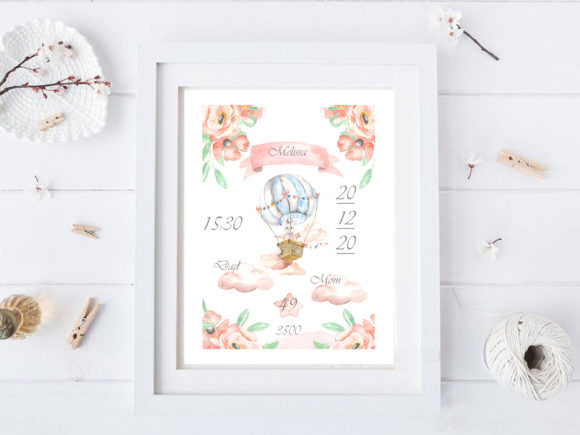 Print on Demand: Template for Creating a Metric  Baby Graphic Illustrations By laffresco04