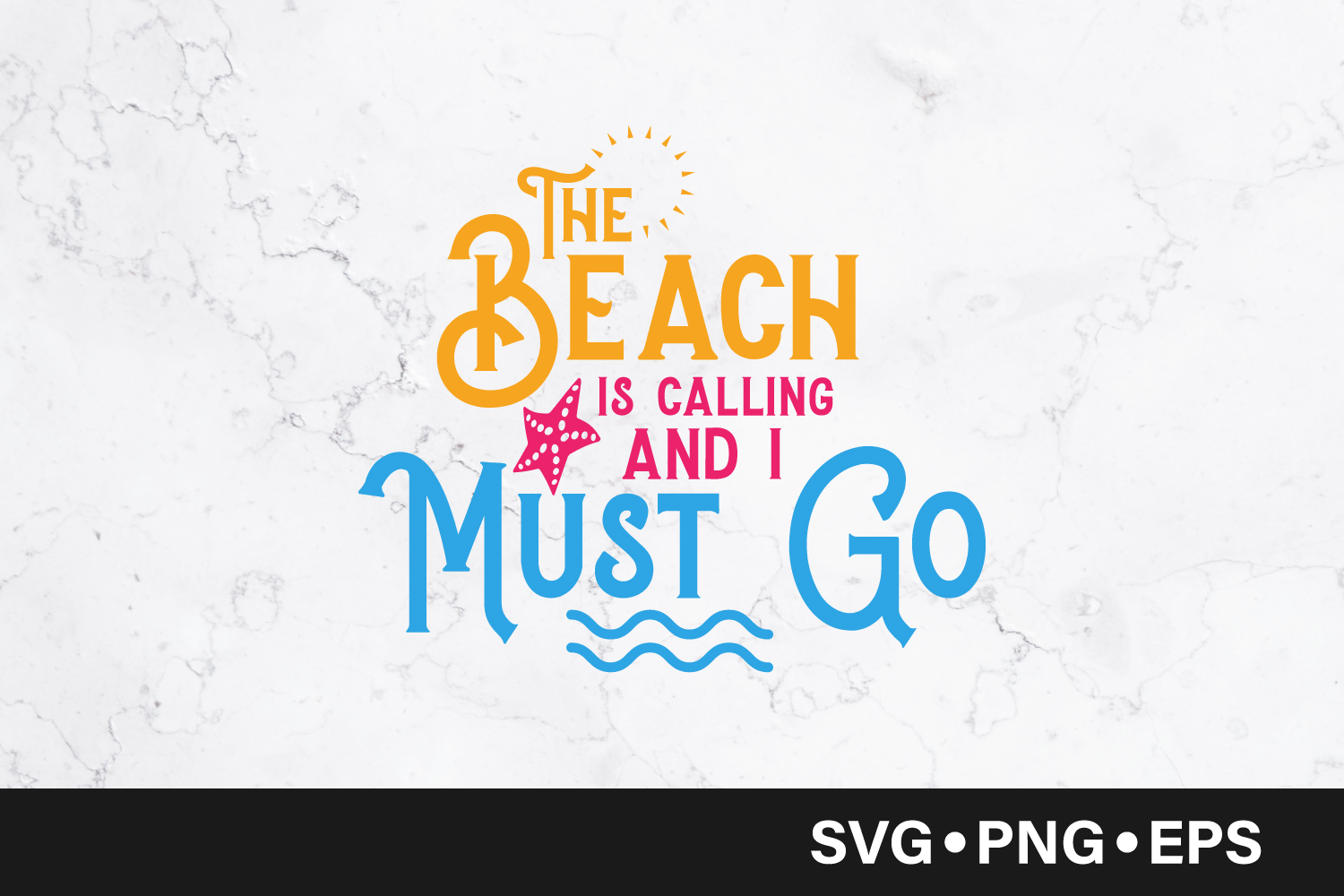 Download Free The Beach Is Calling Quote Grafico Por Vectorbundles Creative for Cricut Explore, Silhouette and other cutting machines.