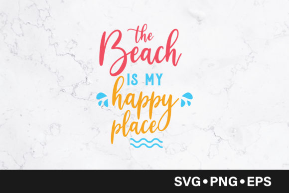 The Beach is My Happy Place  Graphic Crafts By vectorbundles