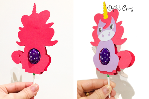 Download Free Unicorn Lollipop Holder Design Graphic By Digital Gems SVG Cut Files