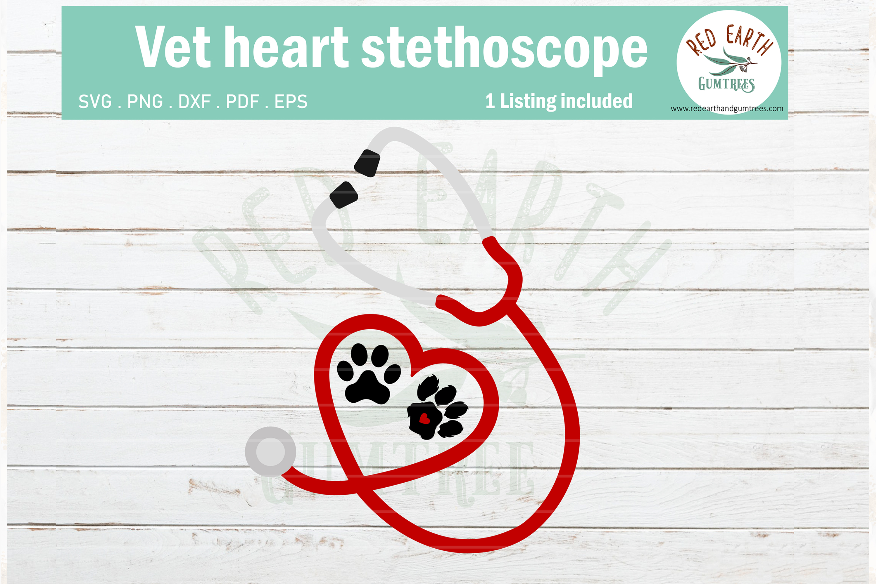 Download Free Vet Doctor Nurse Heart Stethoscope Graphic By Redearth And SVG Cut Files