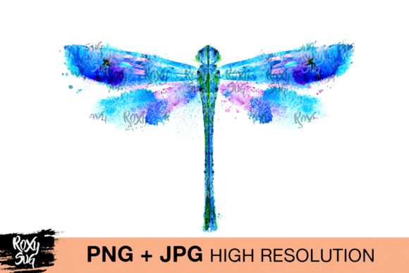 Print on Demand: Watercolor Dragonfly Graphic Crafts By roxysvg26 - Image 1