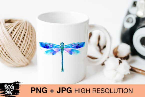 Print on Demand: Watercolor Dragonfly Graphic Crafts By roxysvg26 - Image 3