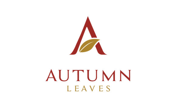 Download Free Autumn Leaf Initial Letter A Logo Design Graphic By Enola99d for Cricut Explore, Silhouette and other cutting machines.