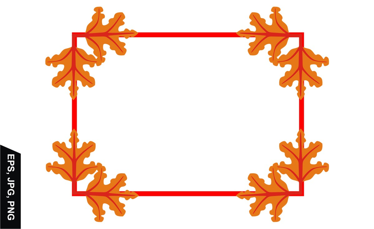 Download Free Autumn Leaves Frame Border Decoration Graphic By Arief Sapta for Cricut Explore, Silhouette and other cutting machines.