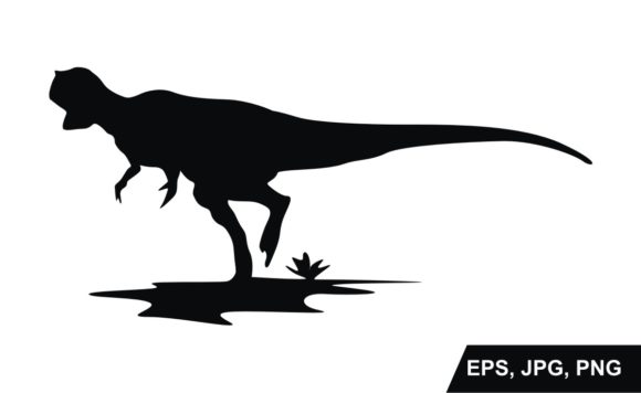 Print on Demand: Dinosaur Silhouette Vector Graphic Crafts By Arief Sapta Adjie