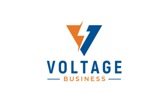 Download Free Initial V Voltage Volt Bolt Flash Logo Graphic By Enola99d for Cricut Explore, Silhouette and other cutting machines.