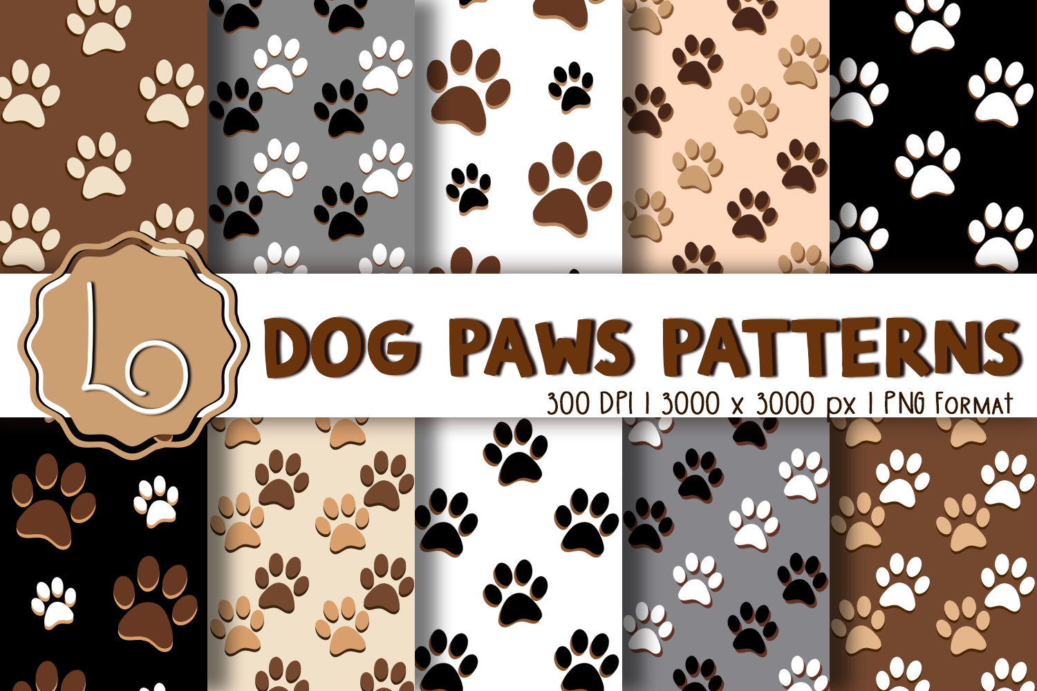 Download Free Dog Paws Patterns Graphic By La Oliveira Creative Fabrica for Cricut Explore, Silhouette and other cutting machines.