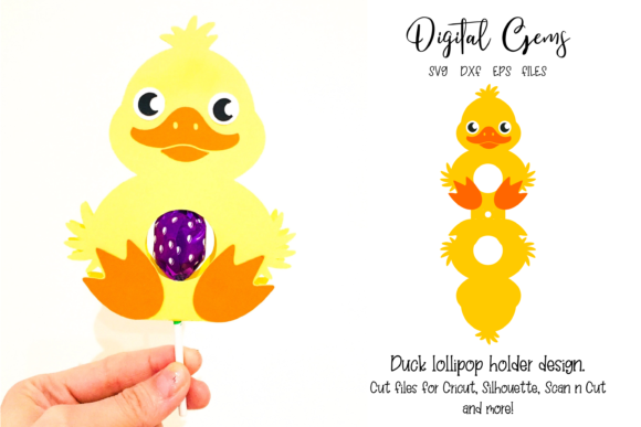 Duck Lollipop Holder Design Graphic 3D SVG By Digital Gems