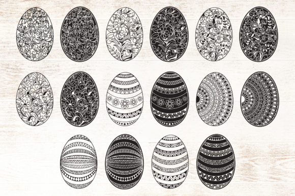 Print on Demand: Easter Egg - Patterned - Floral Graphic Crafts By Dasagani