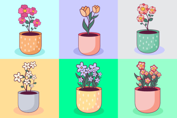 Download Free Kawaii Flower Illustration Concept Graphic By Azman Creative for Cricut Explore, Silhouette and other cutting machines.
