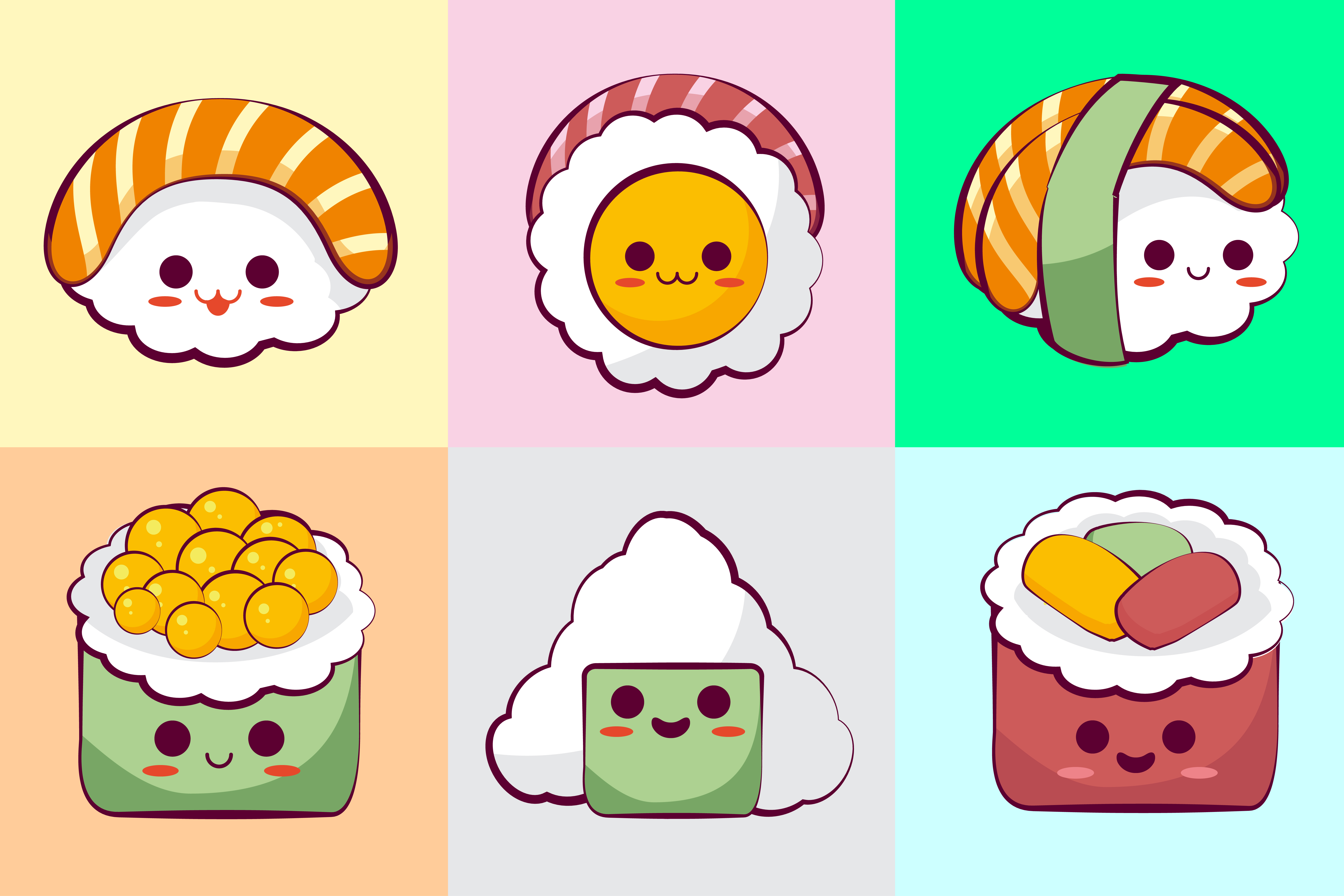 Download Free Kawaii Sushi Illustration Concept Grafik Von Azman Creative for Cricut Explore, Silhouette and other cutting machines.