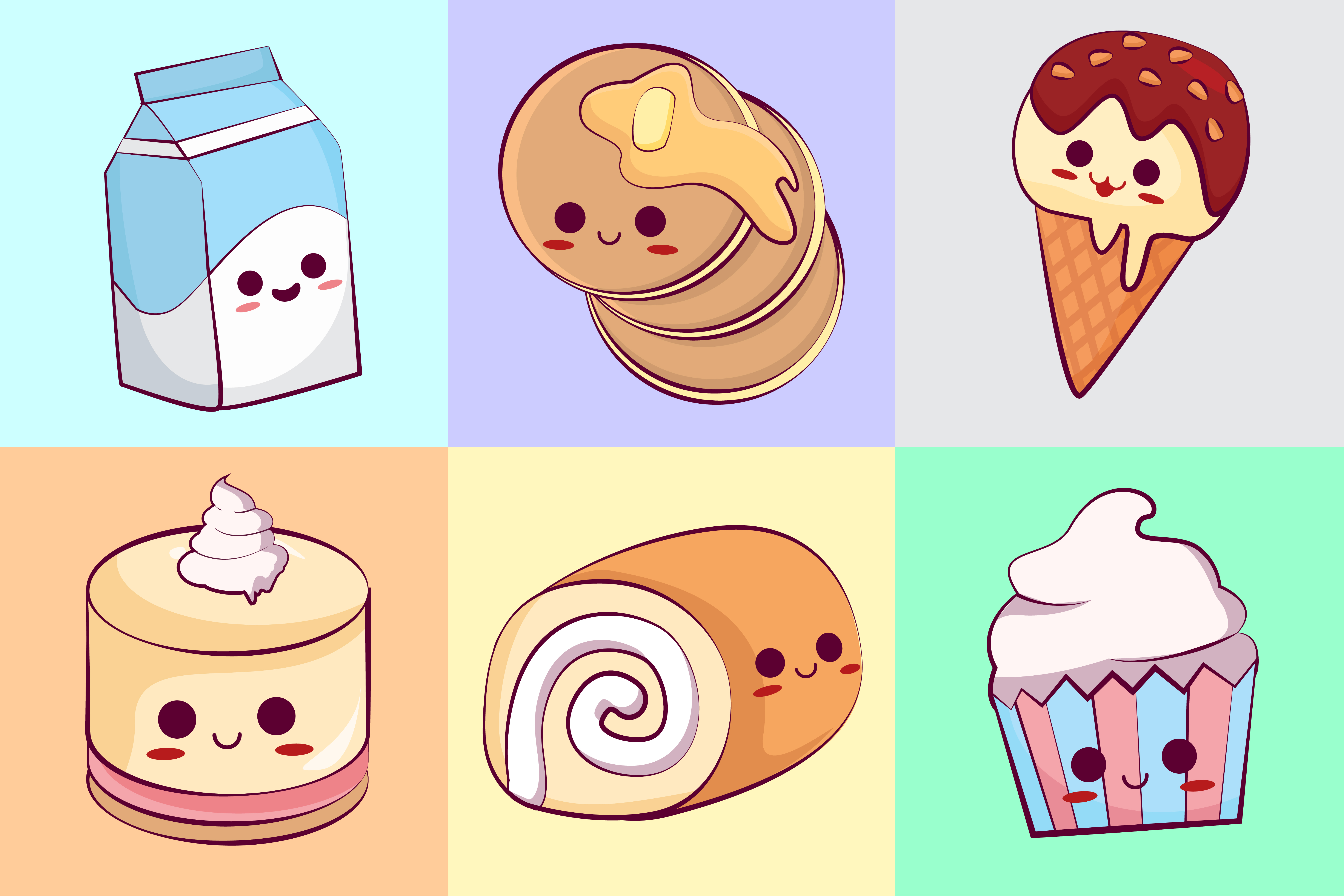 Download Free Kawaii Sweet Food Illustration Concept Graphic By Azman for Cricut Explore, Silhouette and other cutting machines.