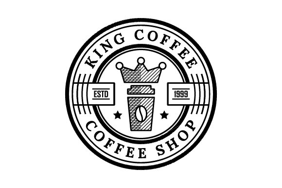 Download Free King Coffee Badge Logo Graphic By Asadancs Creative Fabrica for Cricut Explore, Silhouette and other cutting machines.