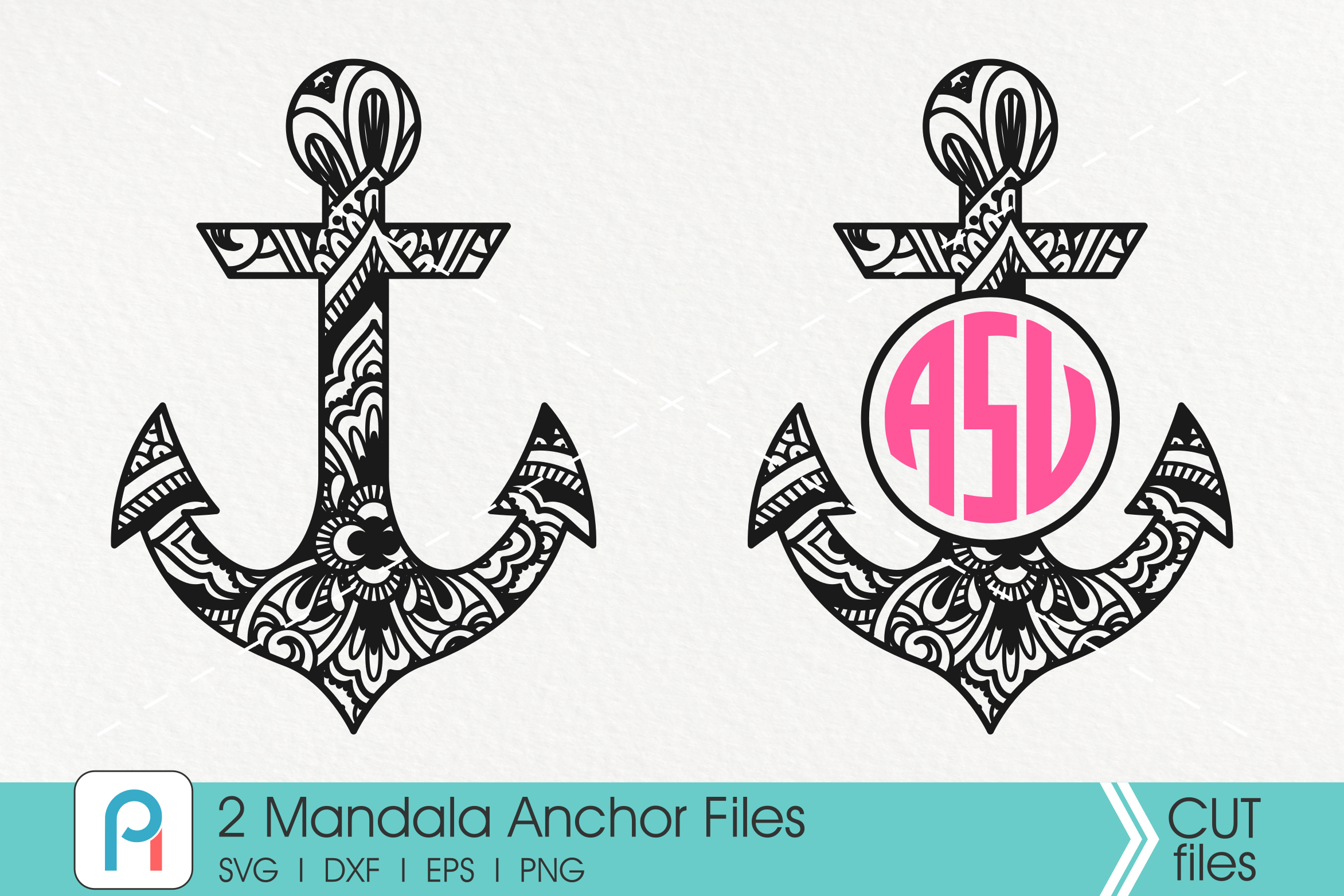 Download Free Mandala Anchor Graphic By Pinoyartkreatib Creative Fabrica for Cricut Explore, Silhouette and other cutting machines.