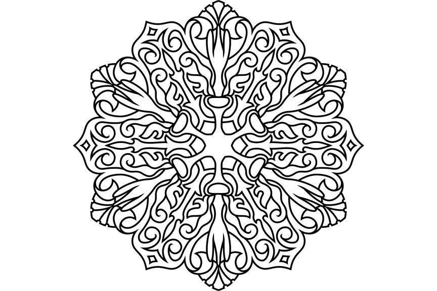 Download Free Mandala Design Vol 402 Graphic By Ermannofficial Creative Fabrica for Cricut Explore, Silhouette and other cutting machines.