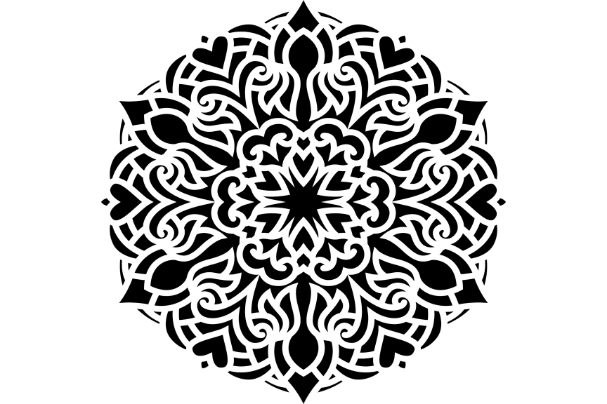 Download Free Mandala Design Vol 407 Graphic By Ermannofficial Creative Fabrica for Cricut Explore, Silhouette and other cutting machines.